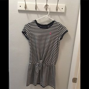 🐬POLO RALPH LAUREN NAVY AND WHITE STRIPPED DRESS